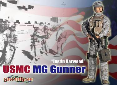 "Cyber Hobby ""Justin Harwood"" USMC MG Gunner"