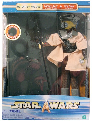 "Saga 12"" Princess Leia as Boushh & Han Solo Carbonite"