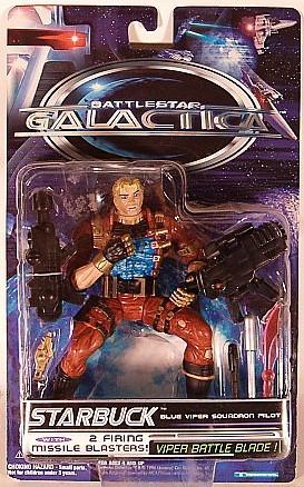 Trendmasters Battlestar Galactica StarBuck Blue Viper Pilot