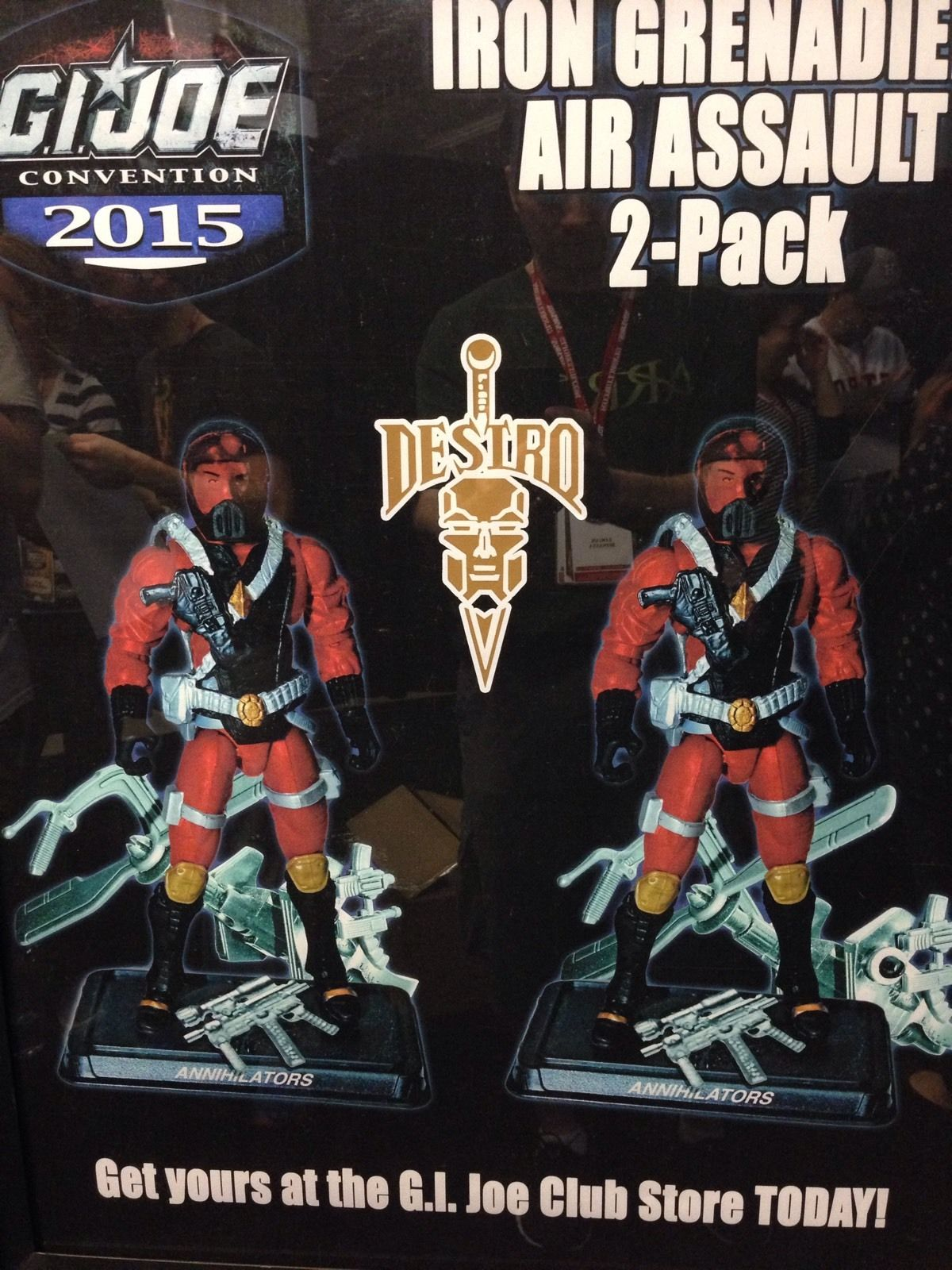 G.I. Joe Con 2015 Iron Grenadier Assault Trooper 2 Pack