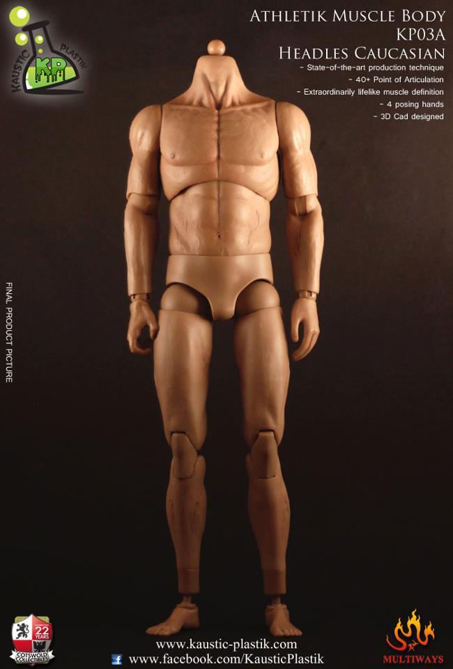 Kaustic Plastik Athletik Male Body (Caucasian, Headless)