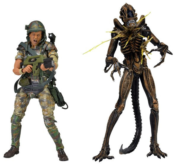 NECA Aliens – 73 Action Figure – 2pk (Hudson vs Brown Warrior)