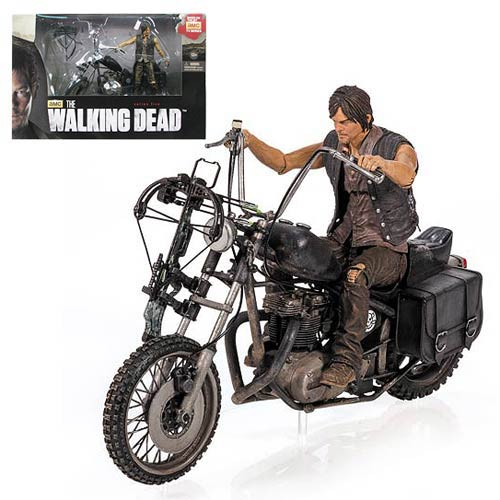 Walking Dead Daryl Dixon Action Figure and Motorcycle Deluxe Box Set
