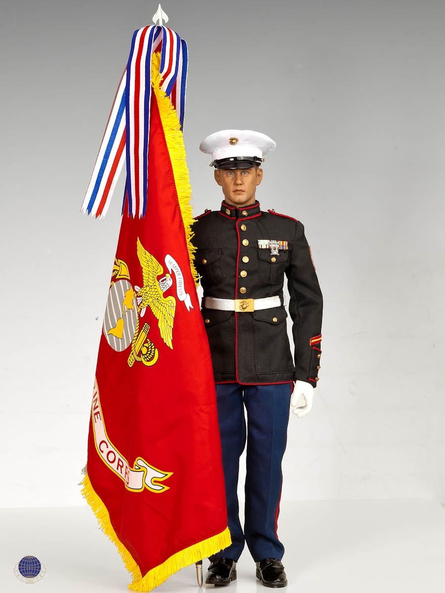 Marine officer dress blue alphas