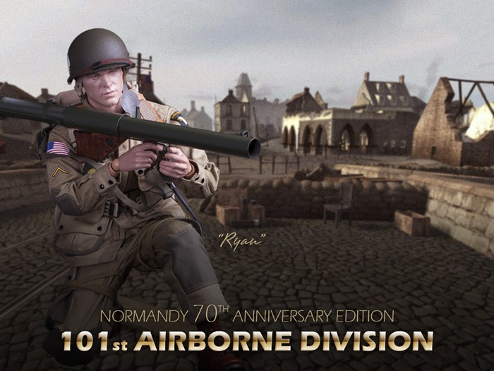 DID WWII Normandy 70th Anniversary Edition- 101st Airborne Division Ryan 1/6