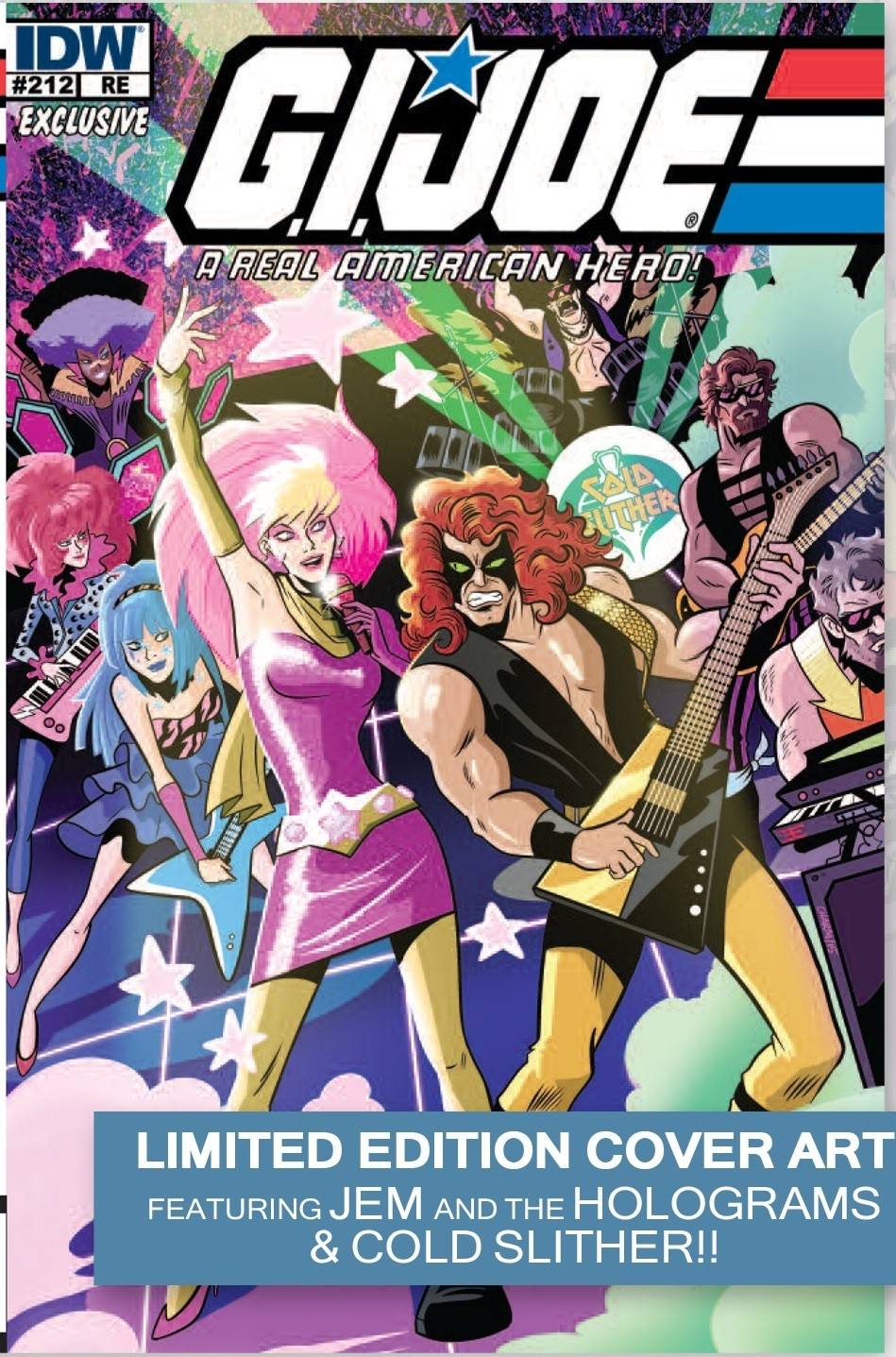 IDW G.I. Joe #212 Joe Con 2015 Exclusive Comic featuring Jem & the Holograms and Cold Slither!