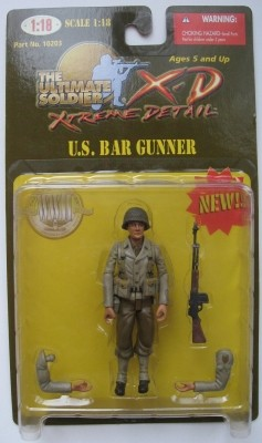 21st Century Ultimate Soldier Extreme Detail 1:18 Series 1 U.S. Bar Gunner