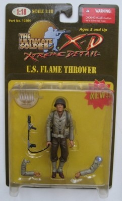 21st Century Ultimate Soldier Extreme Detail 1:18 Series 1 U.S. Flame Thrower