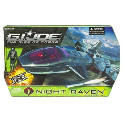 G.I. Joe Movie Night Raven Vehicle with Air-Viper Figure Damaged Boxes