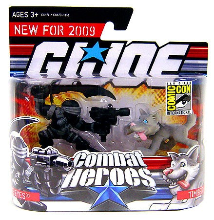 SDCC 2008 G.I. Joe Combat Heroes Snake Eyes & Timber