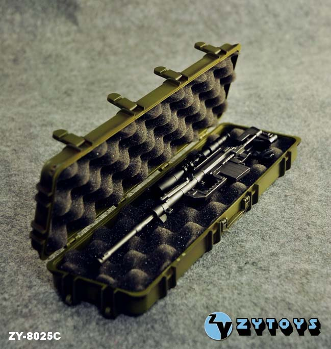 ZY Toys 1/6 Weapons Case Green