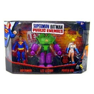 Mattel Superman/Batman Public Enemies Mini Figure 3-Pack Superman, Lex Luthor & Power Girl