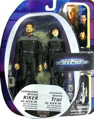 Star Trek: Nemesis NF Exclusive William Riker & Deanna Troi Action Figures 2-Pack