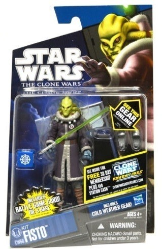 Star Wars Clone Wars Kit Fisto Cold Weather Gear CW60