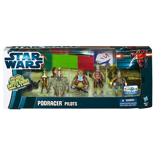 Toys R Us Star Wars Pod Racer Pilots Action Figure Pack