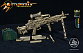 Arms-Rack 1/6 MK 249 Light Machine Gun (LMG) in Sand Camo