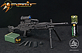 Arms-Rack 1/6 MK 48 Light Machine Gun (LMG) in Black