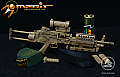 Arms-Rack 1/6 MK 46 Light Machine Gun (LMG) in Sand Camo