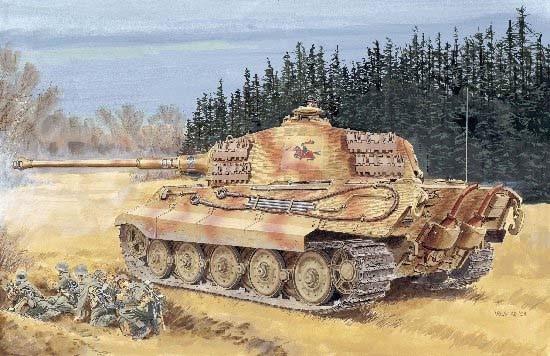 Dragon 1/35 Sd. Kfz. 182 Kingtiger - Henschel Turret