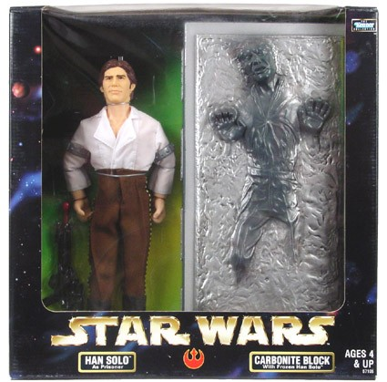 Star Wars POTF2 12 inch Target Han Carbonite C-7