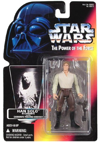 Star Wars POTF2 RC Han Solo Carbonite Block